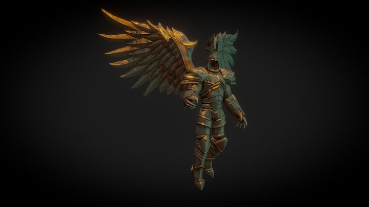 Armored Angel 3D Model