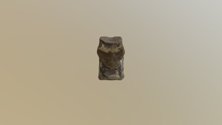 Easter Island Statue (Textured) 3D Model