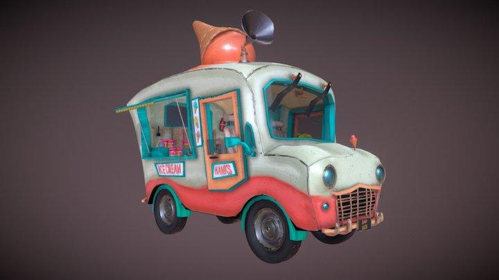 Ice Cream Truck 3D Model