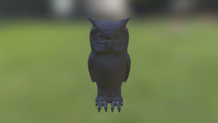 Owl Complete Low Detail 3D Model