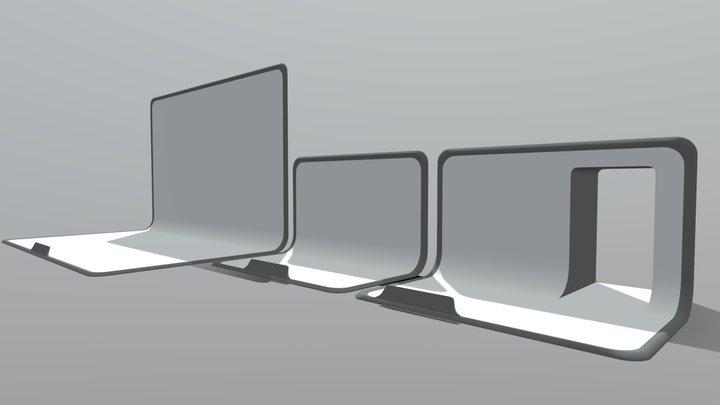Epic Back Plates 3D Model