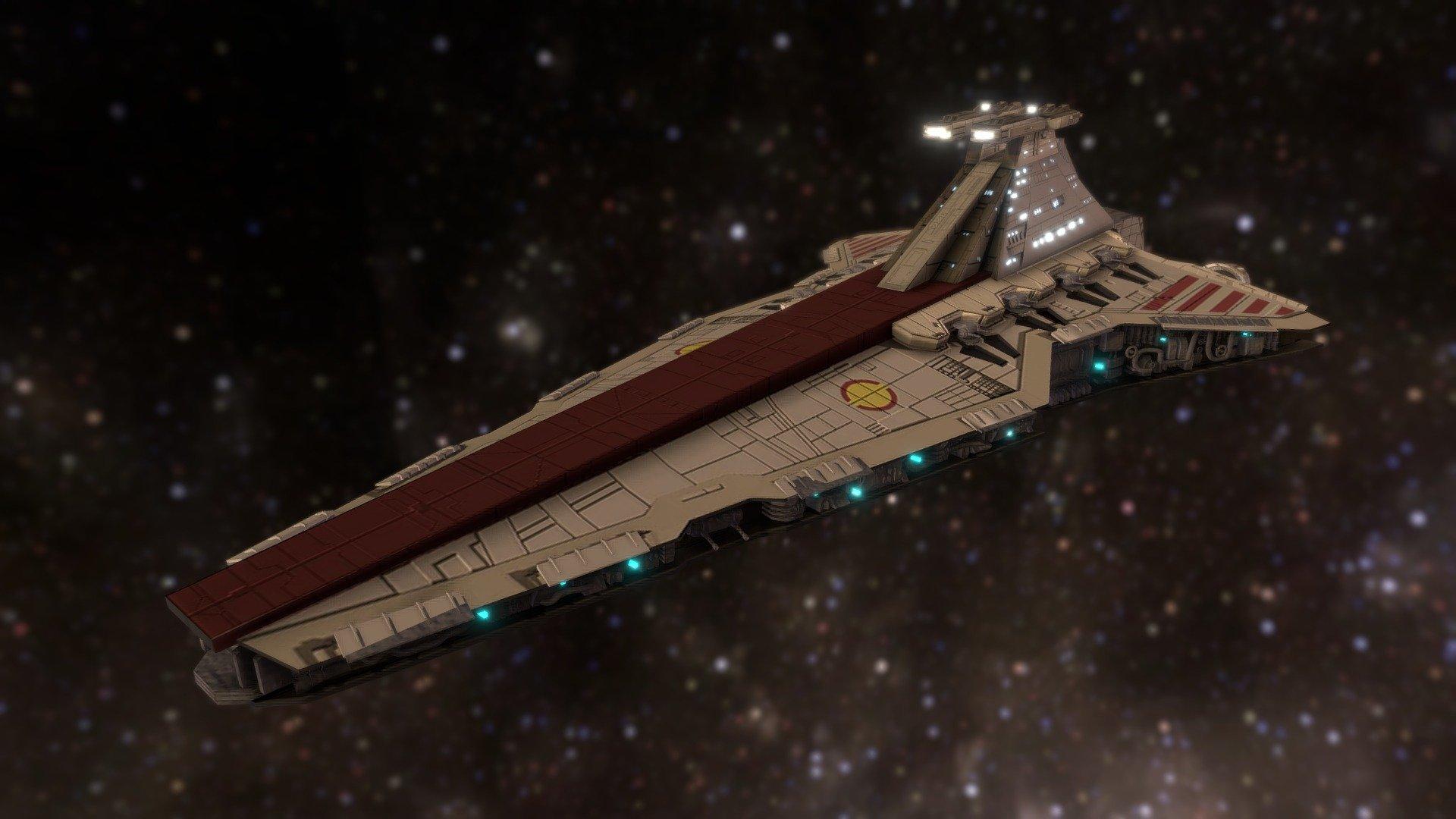 Venator Class Star Destroyer 3d Model By Roger Masats Vidal