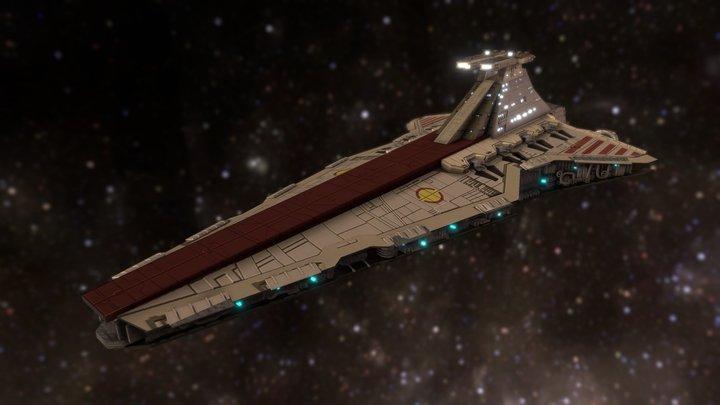 Venator Class Star Destroyer 3D Model