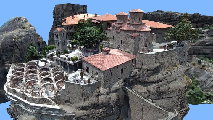 Meteora monastery, Μετέωρα, Greece 3D Model