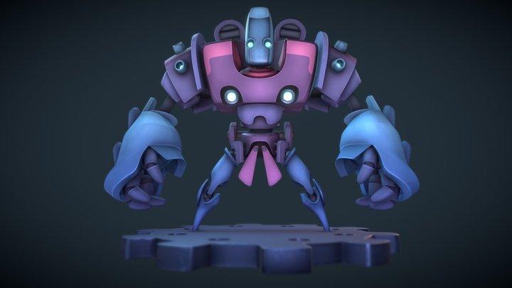 Multi Head Mecha 3D Model