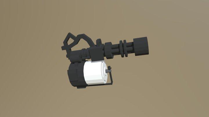 Team Fortress 2 Minigun - Elements 3D Model