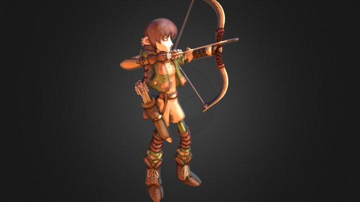 Jane the Elf 2D image turned into 3D mesh 3D Model