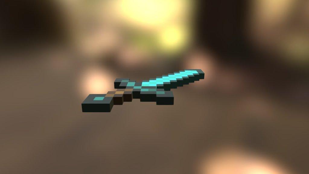 Minecraft Diamond Sword - Download Free 3D model by