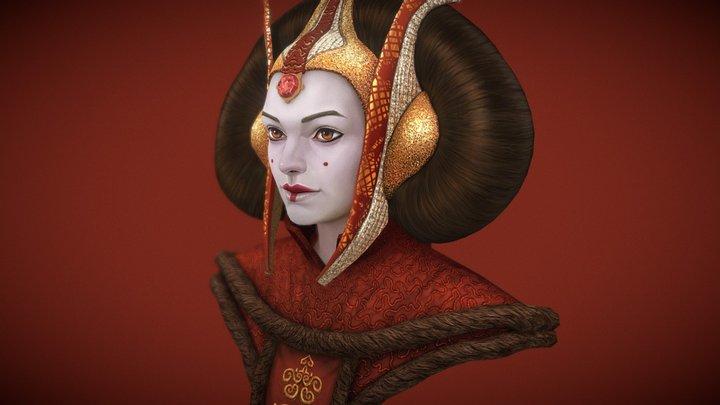 Queen Amidala 3D Model