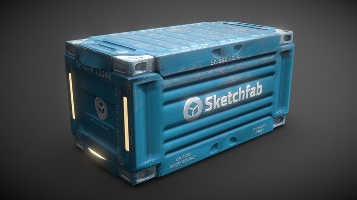 Sketchfab Space-Container 3D Model