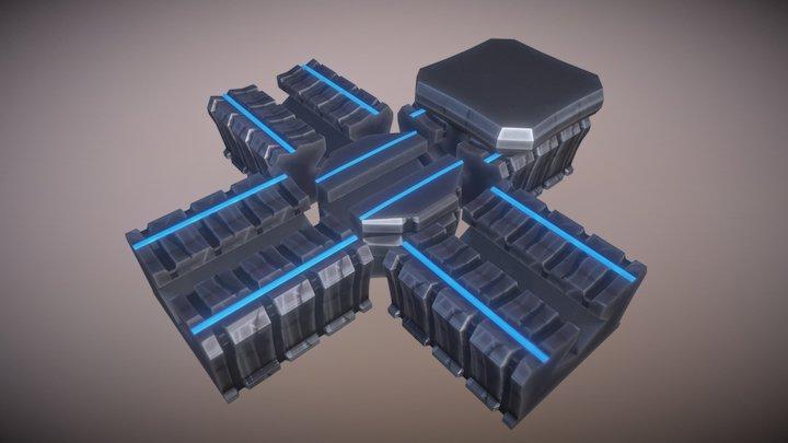 Server Rails 3D Model