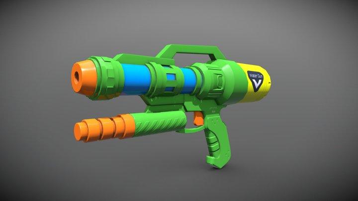 Water Gun - Low Poly 3D Model