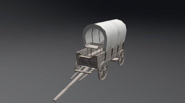 Wild West Wagon Tin Tsui 3D Model