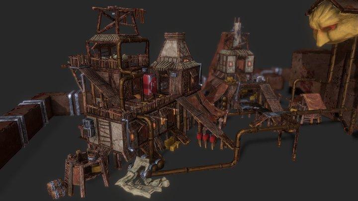 Modular Fortress 3D Model