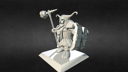 Dwarf miniature pose 1 armour 1 3D Model