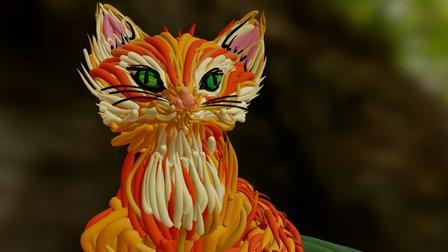 Sitting Fox 3D Model