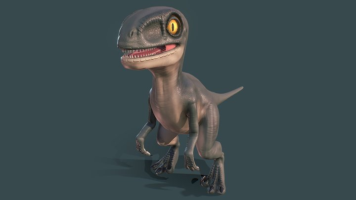 Baby Velociraptor 3D Model