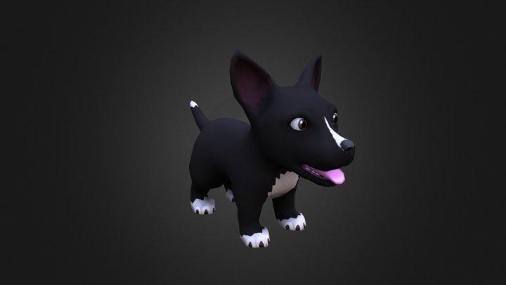 Little Dog 3D Model