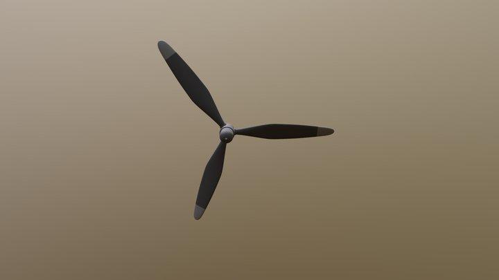 N486c Airplane Propeller 3D Model