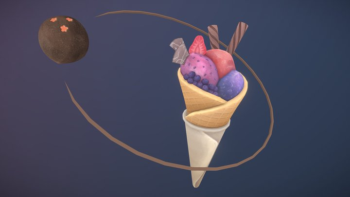 Cosmic Confectionery 3D Model