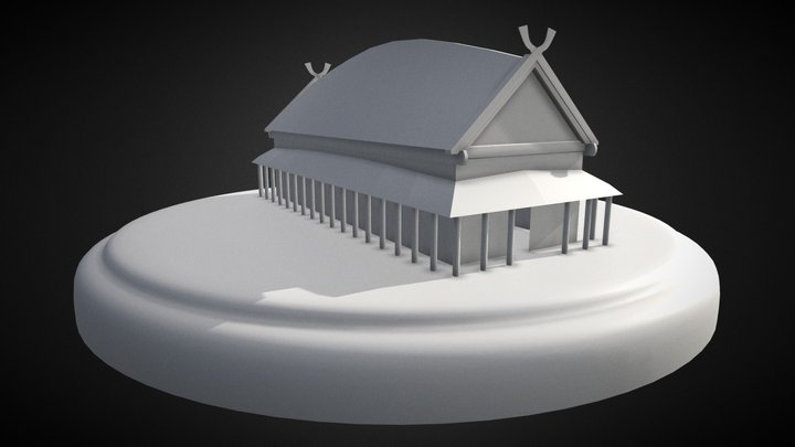 Viking's House (Denmark) 3D Model