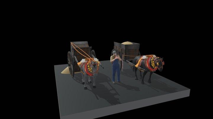 CARRO DE TRABUC 3D Model