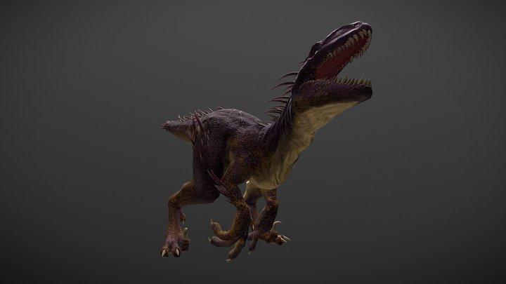 Quill Raptor 3D Model