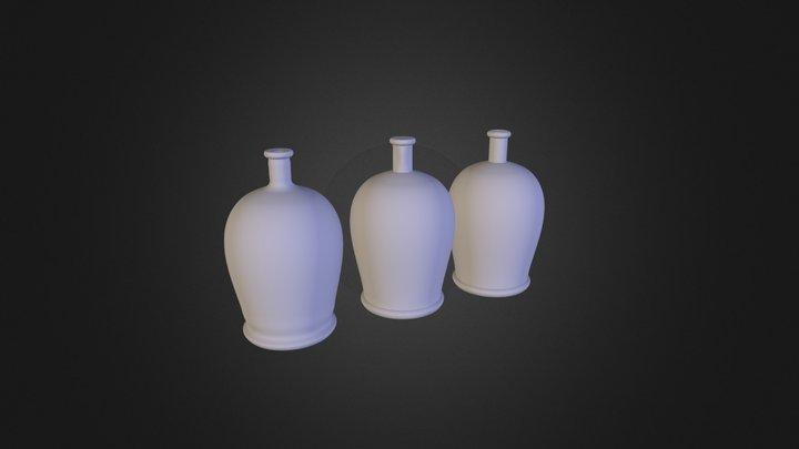 3 בקבוקים 3D Model