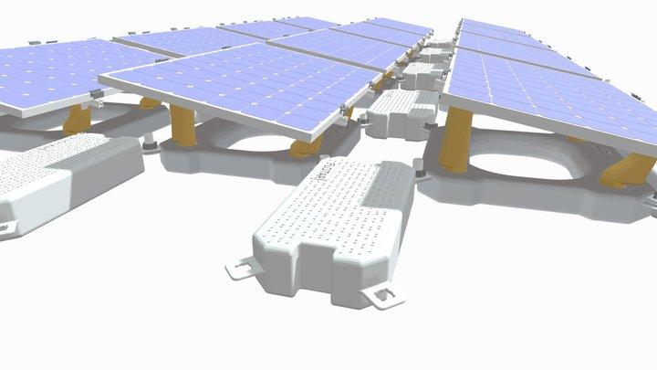 Profloating | Floating Solar System | FLOTAR 1.0 3D Model