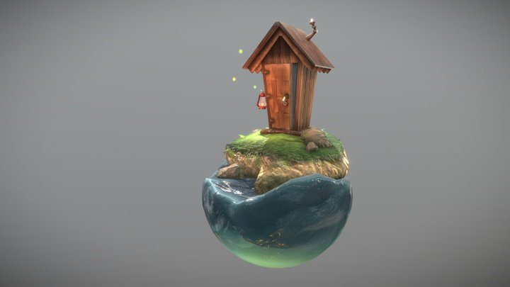 Outhouse Diorama 3D Model
