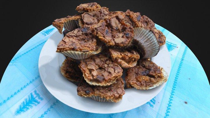 Flat Muffins #3DST16 3D Model