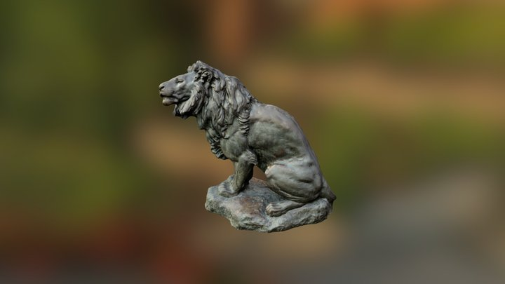 Lion-exported fbx with texture 3D Model
