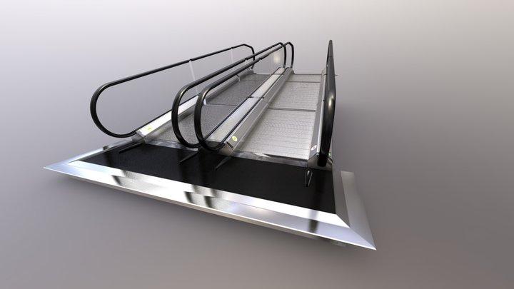 Escalator Flat Stairs, Walkway ,Slide Bridge KIT 3D Model