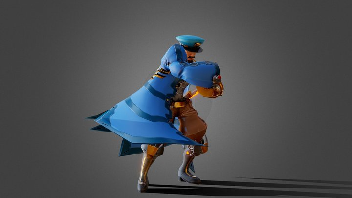 Stylized General Character 3D Model