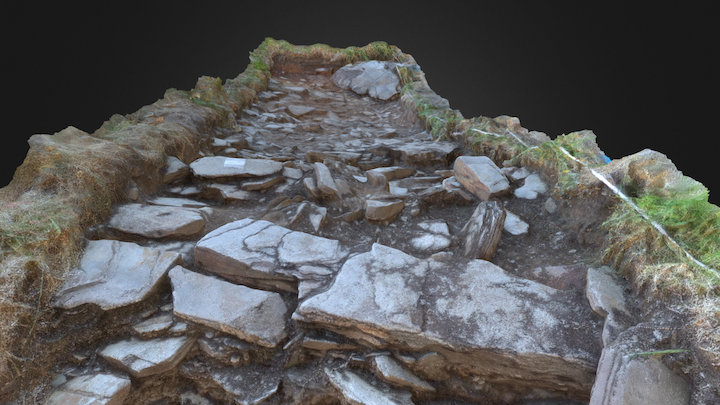 Tintagel Castle – Archaeological Dig – Trench D 3D Model