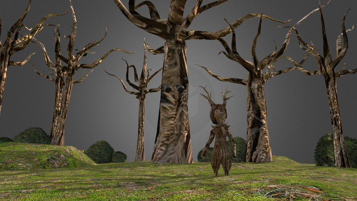 Environment with character 3D Model