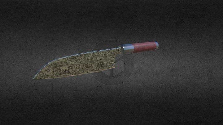 Santoku Knife (Santoku bōchō) 3D Model