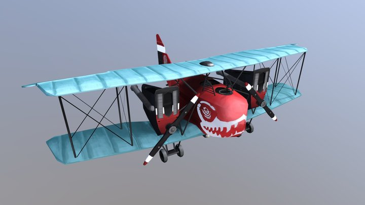 WW1 Stylized Bomber Plane - AEG G.IV 3D Model