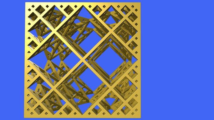 Diamond Lattice Cube 01 3D Model