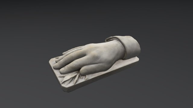 Cast of King Carol I's right hand 3D Model
