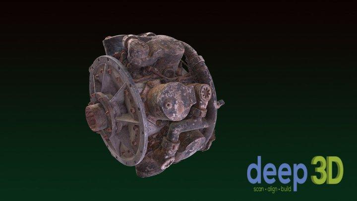 8-Cylinder Torpedo Motor 3D Model