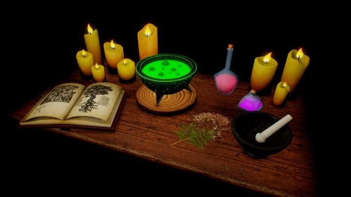 Witch's Table 3D Model