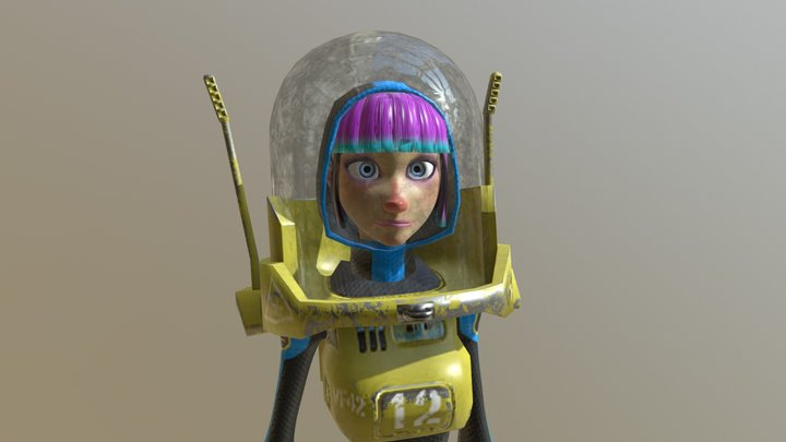 Space Girl 2 3D Model