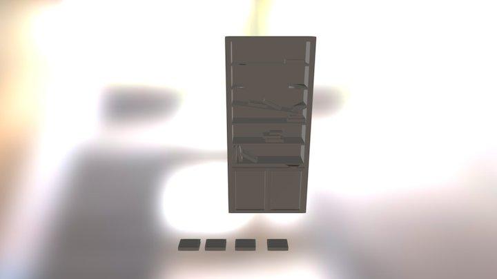 Broken Bookshelf 3D Model