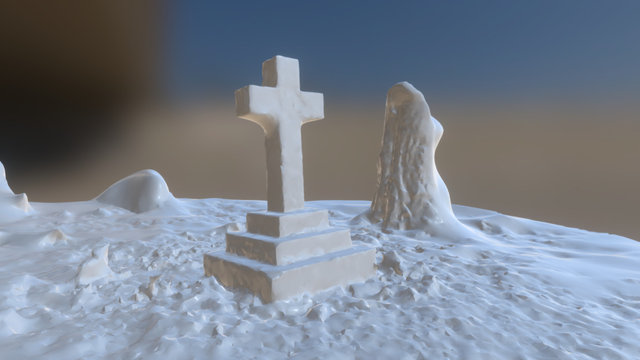 Grave Stone-exported OBJ 3D Model