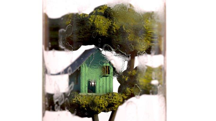 Tree House Test Tube Terrarium 3D Model