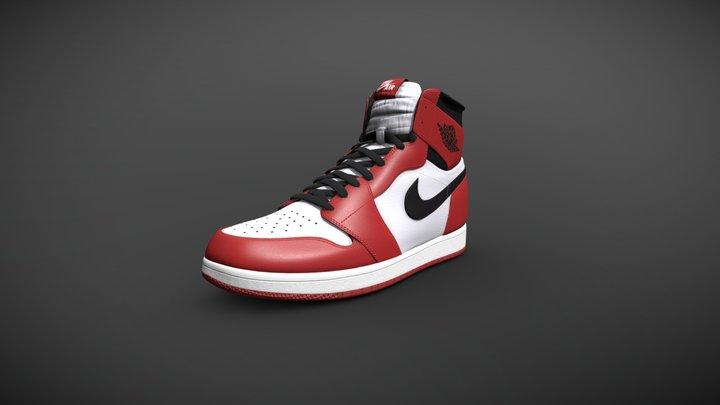 Nike Air Jordan 1 Retro High OG Chicago 3D Model