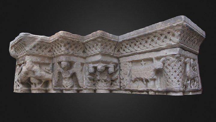 Friso y capiteles del montante izquierdo 3D Model