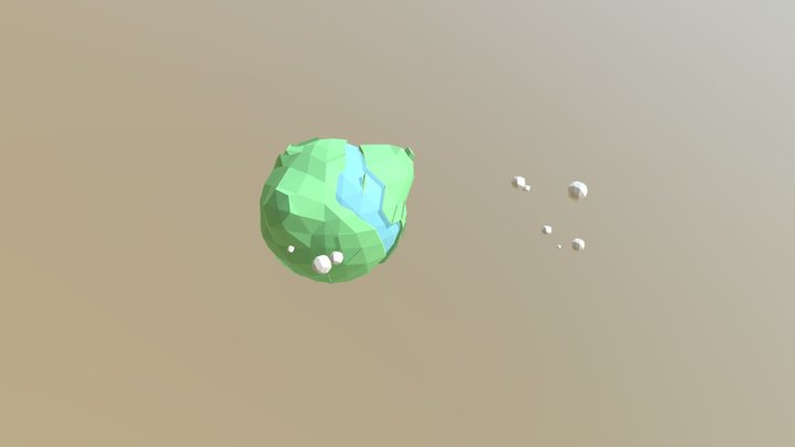 Low Poly Earth 3D Model