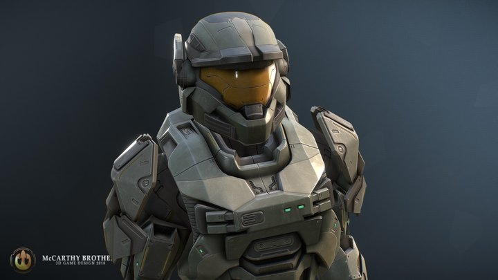 Spartan Armour MKV - Halo Reach 3D Model
